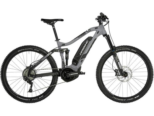 HAIBIKE SDURO FullSeven LT 3.0 E-MTB fullsuspension Herrer grå/sort (2019) | Mountainbikes